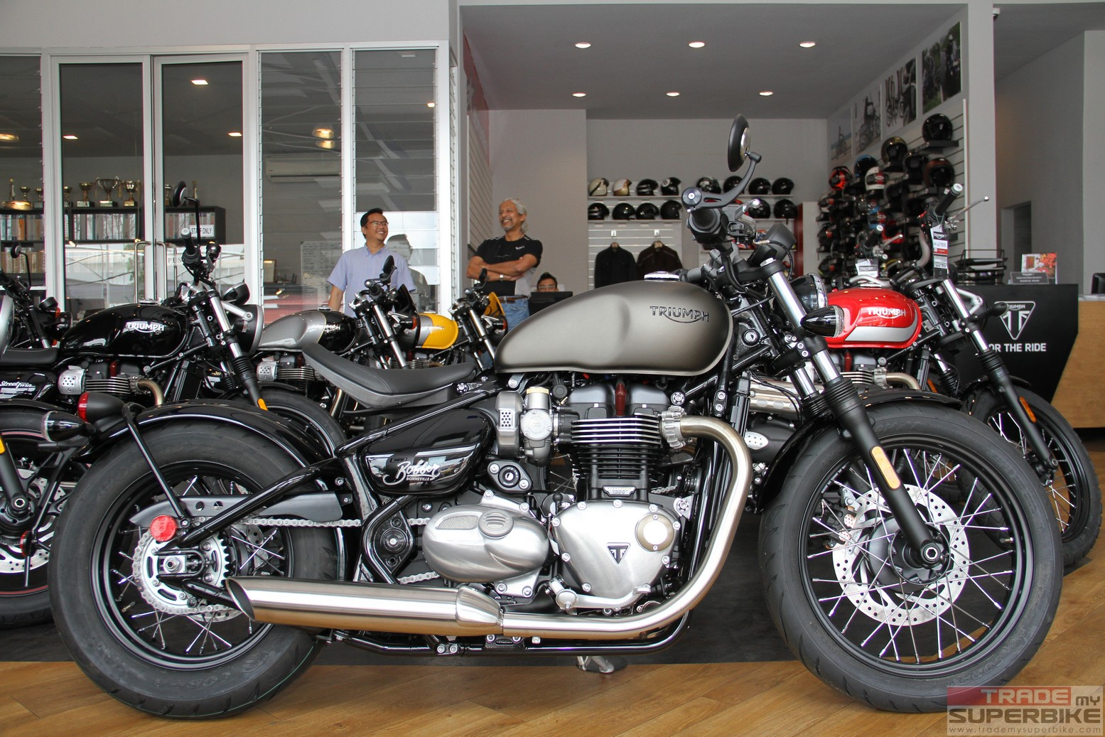 triumph motorcycles pj showroom abuzz with the introduction of