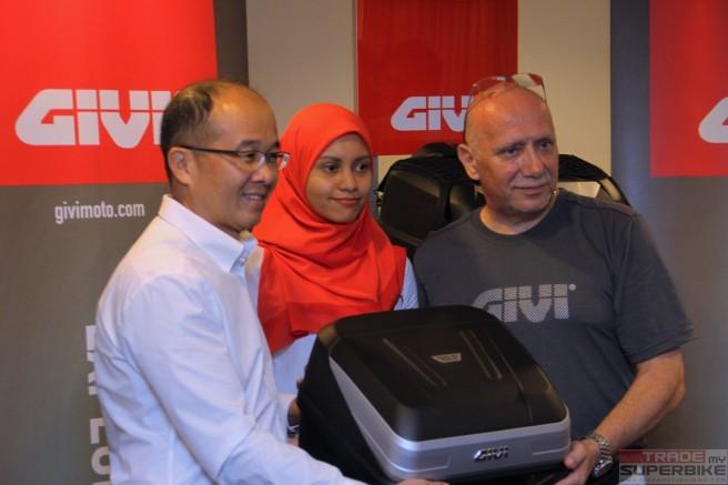 Mr. On Hai Swee -MD of GIVI Asia SB, Rozaida Zaki - Product Designer GIVI Asia, Joseph Perucca GIVI International Overseas Director
